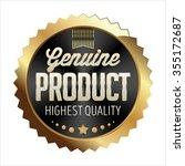 gold and black badge on white... | Shutterstock .eps vector #355172687