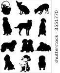 vector dogs | Shutterstock .eps vector #3551770