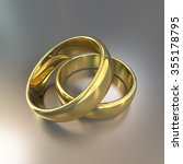 cg of the wedding rings | Shutterstock . vector #355178795