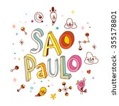 sao paulo | Shutterstock .eps vector #355178801