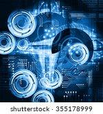 dark blue color light abstract... | Shutterstock .eps vector #355178999