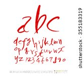 alphabet   number   hand drawn... | Shutterstock .eps vector #355183319