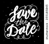 save the date  ink hand... | Shutterstock .eps vector #355185845