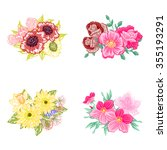 flower set | Shutterstock . vector #355193291