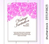 invitation with floral... | Shutterstock .eps vector #355193825