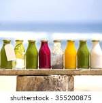 organic cold pressed raw... | Shutterstock . vector #355200875