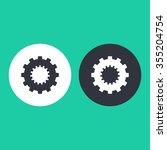 vector illustration of gear... | Shutterstock .eps vector #355204754