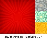 Retro backgrounds set. Vintage rays patterns. - stock vector