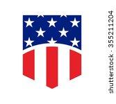 US flag symbol. logo vector. - stock vector