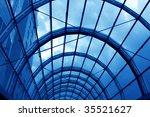 modern hall inside office centre | Shutterstock . vector #35521627