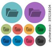 color folder open flat icon set ...
