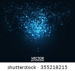 abstract blue bokeh digital... | Shutterstock .eps vector #355218215