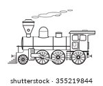 Steam Locomotive. Vector...