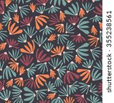 vector floral pattern in doodle ... | Shutterstock .eps vector #355238561