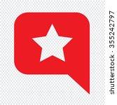 speech bubble star icon...