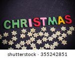 christmas decoration items are... | Shutterstock . vector #355242851