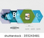 abstract info banner with... | Shutterstock .eps vector #355243481