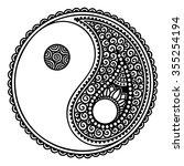 yin yang hand drawn symbol....   Shutterstock .eps vector #355254194
