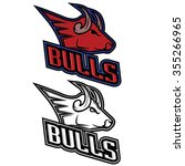 bull mascot for sport teams ... | Shutterstock .eps vector #355266965