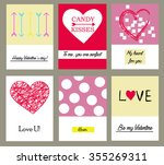 cards with hand drawn textures | Shutterstock .eps vector #355269311