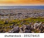 Wild Burren Coast At Sunset
