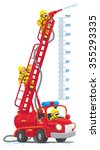 meterwall or height meter with... | Shutterstock .eps vector #355293335
