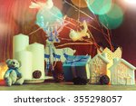 composition with candles... | Shutterstock . vector #355298057