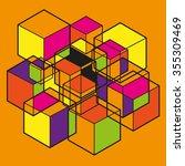 the form of cubes   Shutterstock .eps vector #355309469