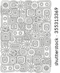 pattern for coloring book with... | Shutterstock .eps vector #355313369