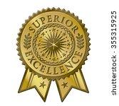 gold certificate award seal ... | Shutterstock .eps vector #355315925