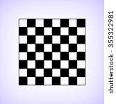 chessboard    black vector icon | Shutterstock .eps vector #355322981
