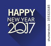 new year 2017 card | Shutterstock .eps vector #355323185