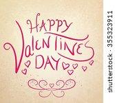 happy valentines day | Shutterstock . vector #355323911