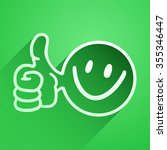 green happy icon | Shutterstock .eps vector #355346447