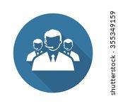 call center icon. flat design.... | Shutterstock .eps vector #355349159