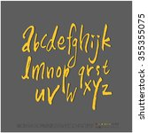 alphabet   number   hand drawn... | Shutterstock .eps vector #355355075