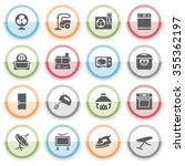 home appliances icons with... | Shutterstock .eps vector #355362197
