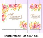 invitation with floral... | Shutterstock .eps vector #355364531