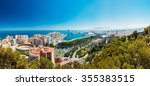 panorama cityscape aerial view... | Shutterstock . vector #355383515