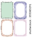 frames  consisting of curved... | Shutterstock .eps vector #355385291