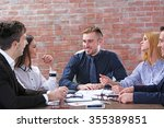 young business people... | Shutterstock . vector #355389851