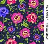 vector illustration of floral... | Shutterstock .eps vector #355391759