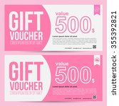 premium gift voucher template   ... | Shutterstock .eps vector #355392821