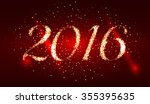 happy new year 2016. holiday... | Shutterstock .eps vector #355395635