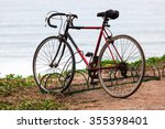 bicycle in the parking lot | Shutterstock . vector #355398401
