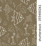 seamless pattern. marine... | Shutterstock .eps vector #355400261