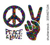 Hippie Symbols Two Fingers As ...