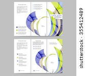 colored tri fold business... | Shutterstock .eps vector #355412489