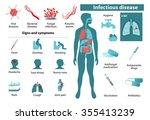 infectious disease. medical... | Shutterstock . vector #355413239
