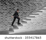 concept 3d man or  businessman... | Shutterstock . vector #355417865